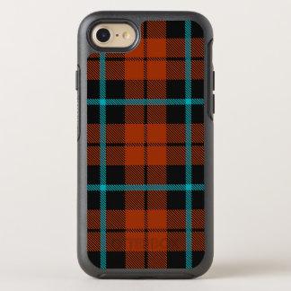 Autumn orange blue and black stripe OtterBox symmetry iPhone 8/7 case