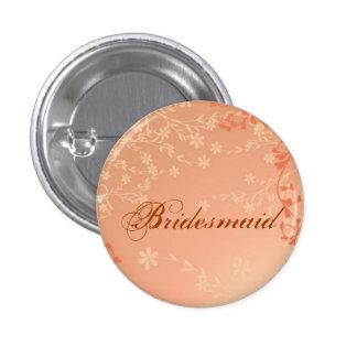 Autumn Orange Fall in Love Leaves bridesmaid 3 Cm Round Badge