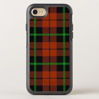 Autumn orange green and black stripe OtterBox symmetry iPhone 8/7 case