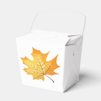 Autumn Orange Leaf Rustic Country Wedding Party Favour Box
