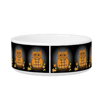 Autumn Orange Owl Bowl