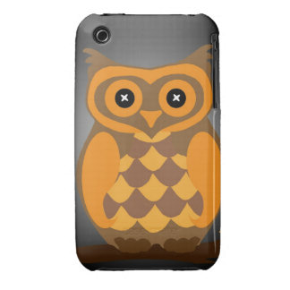 Autumn Orange Owl iPhone 3 Cover