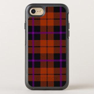 Autumn orange purple and black stripe OtterBox symmetry iPhone 8/7 case