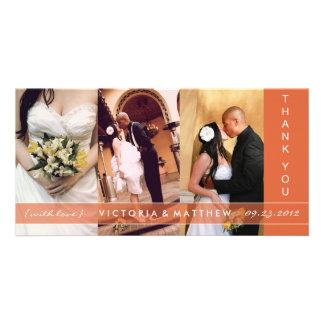AUTUMN ORANGE UNION | WEDDING THANK YOU CARD