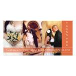 AUTUMN ORANGE UNION   WEDDING THANK YOU CARD PHOTO CARDS