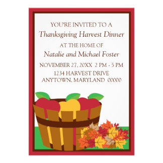 Autumn Orchard Thanksgiving Invitation