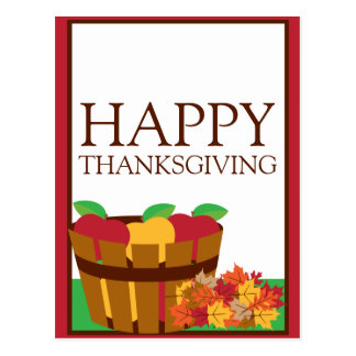 Autumn Orchard Thanksgiving Postcard