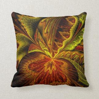 Autumn Orchid Abstract Fractal Art Throw Cushion