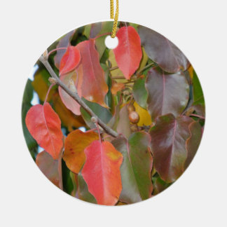 Autumn Ornamental Pear Leaves Ornaments