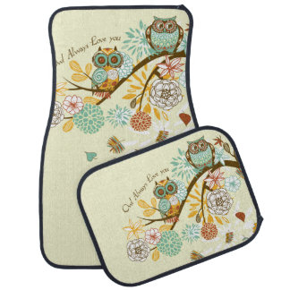 Autumn Owl Car Mat