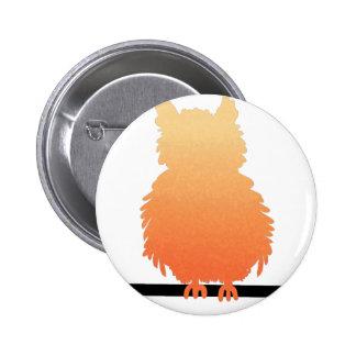 Autumn Owl Silhouette Pinback Buttons