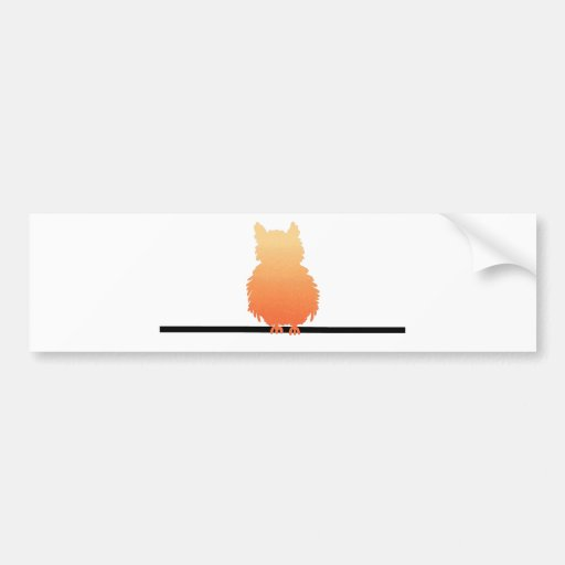 Autumn Owl Silhouette Bumper Stickers