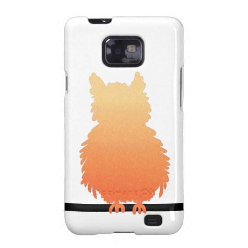 Autumn Owl Silhouette Galaxy S2 Cover