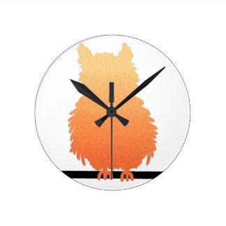 Autumn Owl Silhouette Wallclock
