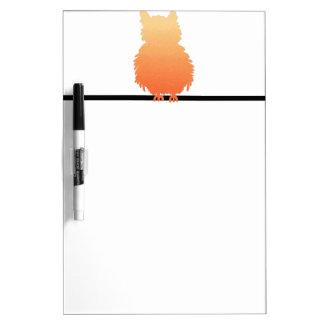 Autumn Owl Silhouette Dry Erase Board