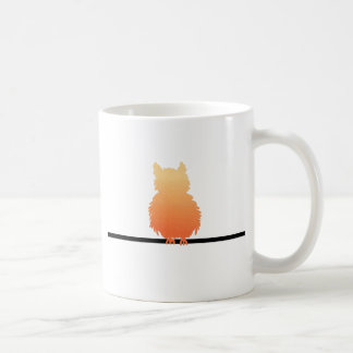 Autumn Owl Silhouette Coffee Mugs