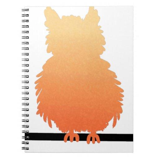 Autumn Owl Silhouette Note Book