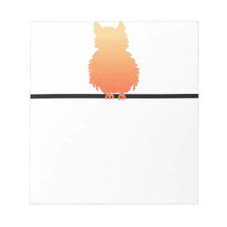 Autumn Owl Silhouette Memo Pads