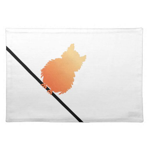 Autumn Owl Silhouette Placemats