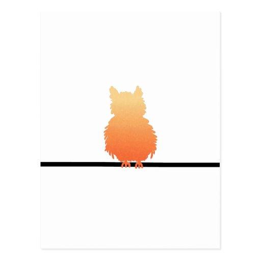 Autumn Owl Silhouette Post Card