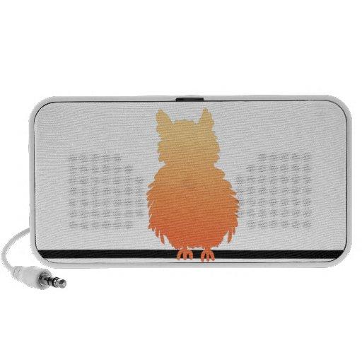 Autumn Owl Silhouette Portable Speaker