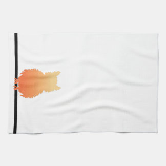 Autumn Owl Silhouette Hand Towel
