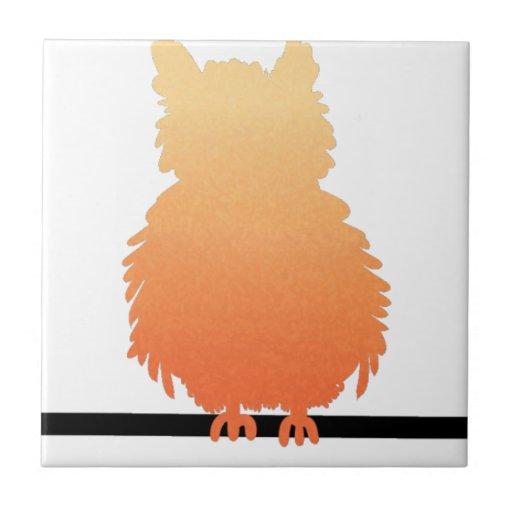 Autumn Owl Silhouette Tiles