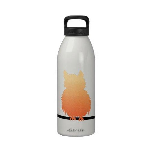 Autumn Owl Silhouette Drinking Bottle