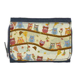 autumn owls wallets