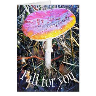 Autumn - Paddenstoel card Fall for you
