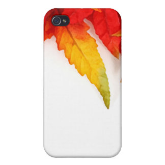 Autumn Painterly Leaf iPhone 4/4S Covers