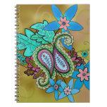 Autumn Paisley Notebook