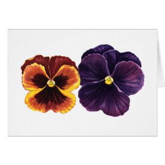 Autumn pansies card
