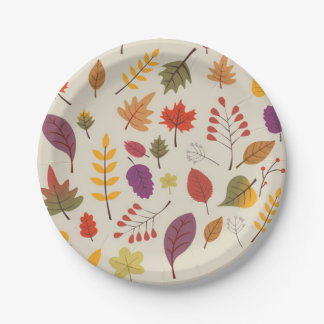 Autumn Paper Plate