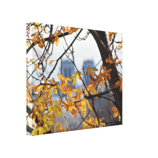 Autumn Paris Notre Dame Canvas Print
