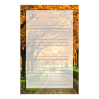 Autumn Park Personalized Stationery