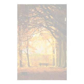 Autumn park stationery paper