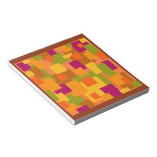 Autumn Patch 2 Abstract Art Notepad