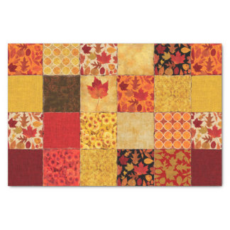 Autumn Patchwork Tissue Paper