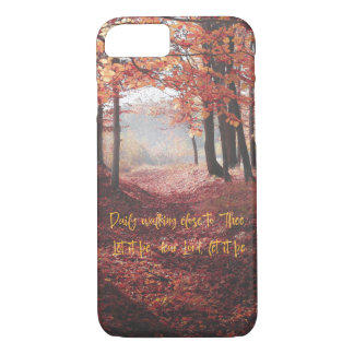 Autumn Path with Hymn Lyric iPhone 8/7 Case