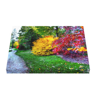 AUTUMN PATH - Wrapped Canvas Stretched Canvas Print