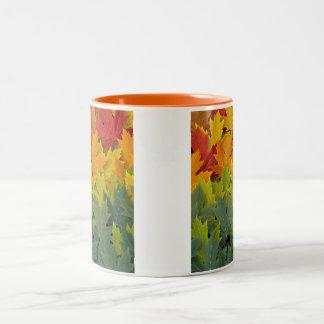 Autumn Pattern 2 Two-Tone Coffee Mug