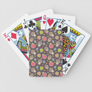 autumn pattern bicycle playing cards