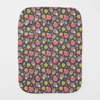 autumn pattern burp cloth