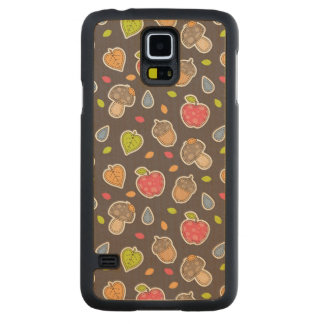 autumn pattern carved maple galaxy s5 case
