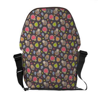 autumn pattern commuter bag