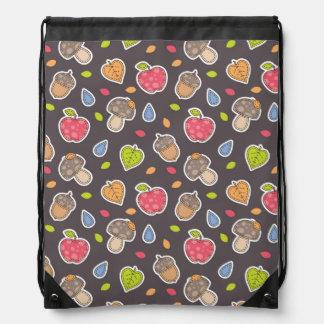 autumn pattern drawstring bag