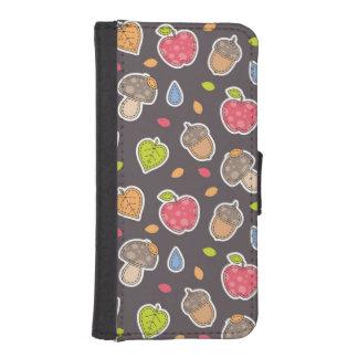 autumn pattern iPhone SE/5/5s wallet case