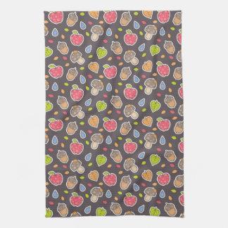 autumn pattern kitchen towels