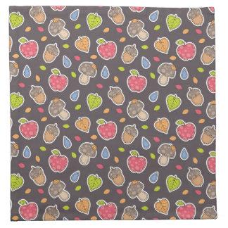 autumn pattern napkin